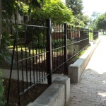 New steel fence on an historic property