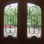 Door grilles, forged steel