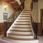 Entryway Stair railing, forged steel