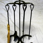 Horseshoe fireplace tools