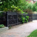 High garden fence with automated gates