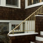 Exterior railing on island home, bronze