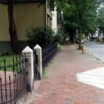 Wrought iron fence restoration