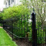 The same fence, restored and reworked to fit the client's property