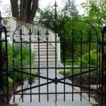 The gate, restored and installed