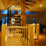 Spiral Staircase Railing and Tread Supports, steel