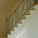 Stair Rail, steel & brass