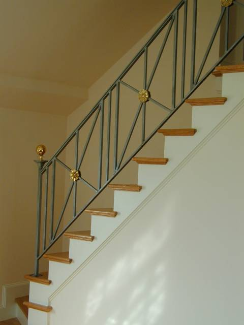 Stair Rail, Steel U0026 Brass
