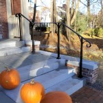 New railing on historic property