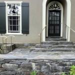 Brass Railings on new stonework