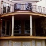 Balcony railing, steel