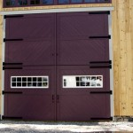 Strap hinges for large barn door
