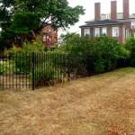 Tall dog enclosure fence