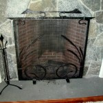 Fireplace screen and tools