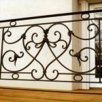 Deck railing, forged steel