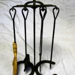 Horseshoe fireplace tools