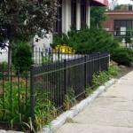 Garden Fence on a busy city street