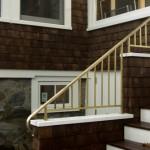 Exterior railing on island home, bronze