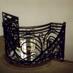 Curved Balcony/Stair railing, forged steel
