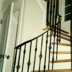 Railing in a difficult-to-fit space, forged steel