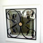 Small Window Grille, forged steel & brass