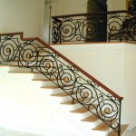 Stair Railing, forged steel & brass