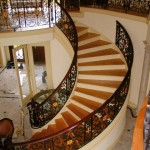 Great Room Stair Railing, modified steel components