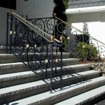 Commercial Entry Railings, forged steel and brass